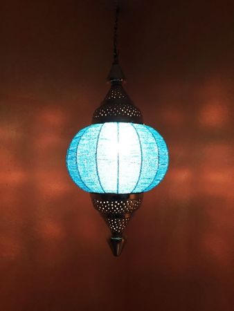 Moroccan Ceiling Lamp Shadia turquoise – image 4