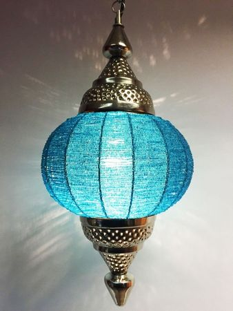 Moroccan Ceiling Lamp Shadia turquoise – image 6
