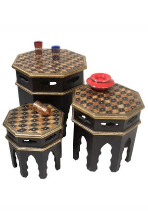 Oriental Set of Tables Ibtihal - 3er Set – image 1