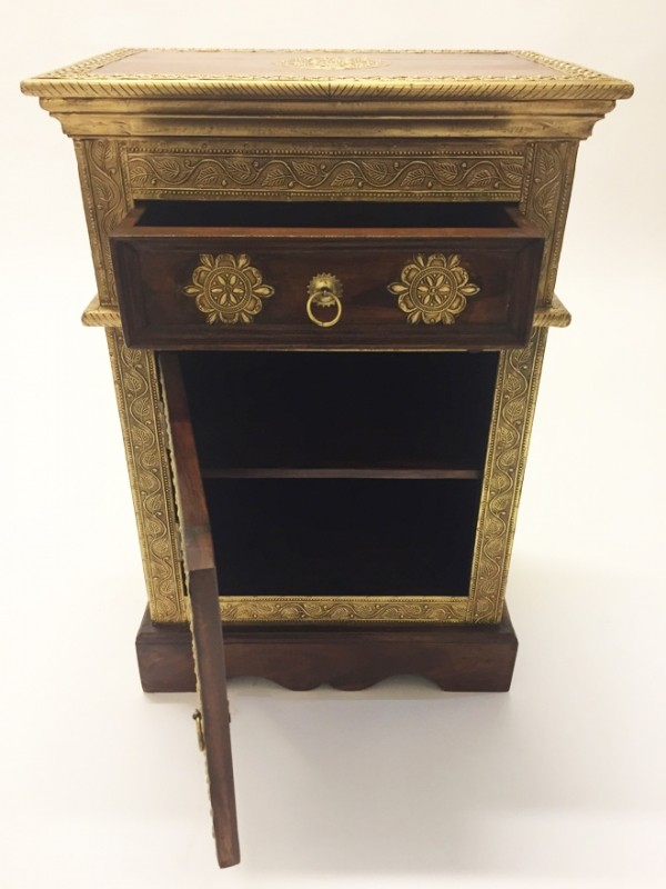 Indian Bedside Table Gowri Oriental Oriental Cabinet
