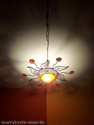 Moroccan Ceiling Lamp Soleil Orange – image 2