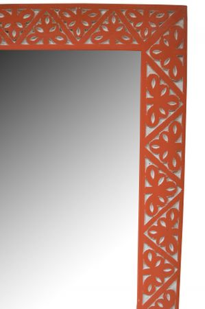 Oriental hand carved Mirror Farah orange - 70cm – image 4