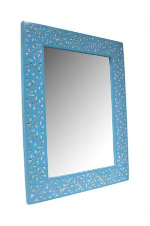 Oriental hand carved Mirror Farah blue - 70cm – image 1