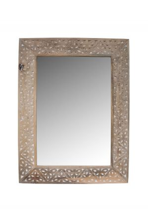 Oriental hand carved Mirror Farah - nature 70cm - – image 2