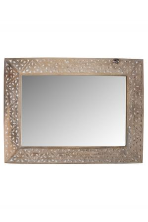 Oriental hand carved Mirror Farah - nature 70cm - – image 3