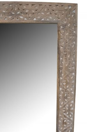 Oriental hand carved Mirror Farah - nature 70cm - – image 4