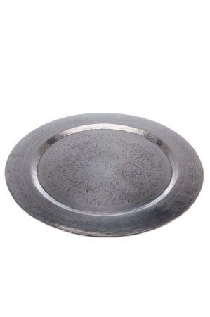 Oriental Silver Tray Hakim - 58cm – image 1