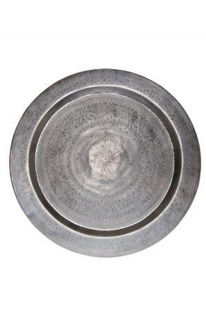 Oriental Silver Tray Ruhi - 80cm – image 1