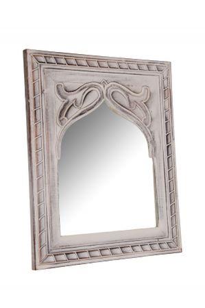Oriental hand carved Mirror Badspiegel Junis - 47cm – image 2