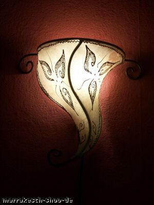 Moroccan Wall Lamp Sanaa Nature – image 1