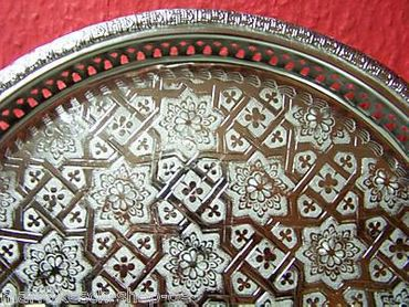 Oriental Tray Nadia - Silver, 37cm – image 2