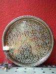 Oriental Tray Nadia - Silver, 37cm 001