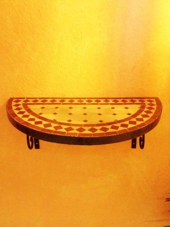 Mosaic console Marrakesch Nature/Bordeaux – image 5