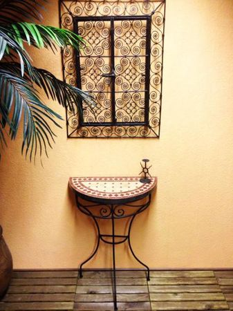 Mosaic console Marrakesch Nature/Bordeaux – image 2