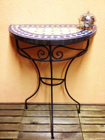 Mosaic console Marrakesch Nature/Blue – image 1