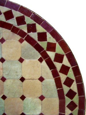 Mosaic Table Marrakesch Nature/Bordeaux 60cm – image 2