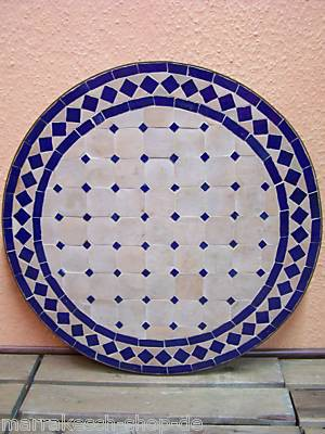 Mosaic Table Marrakesch Nature/Blue 60cm – image 3