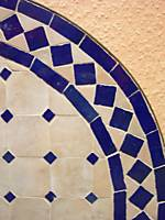 Mosaic Table Marrakesch Nature/Blue 60cm – image 4