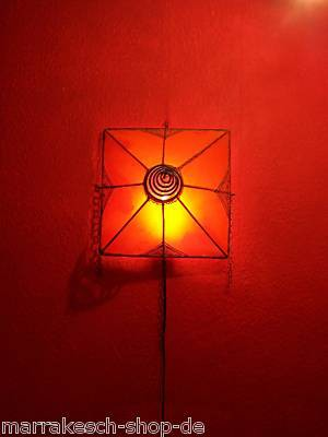 Mediterranean Wall Lamp Karima Orange – image 4