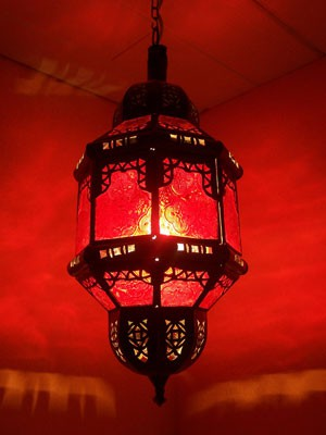 Oriental Ceiling Lamp Fula Red – image 1