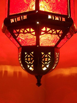 Oriental Ceiling Lamp Fula Red – image 3