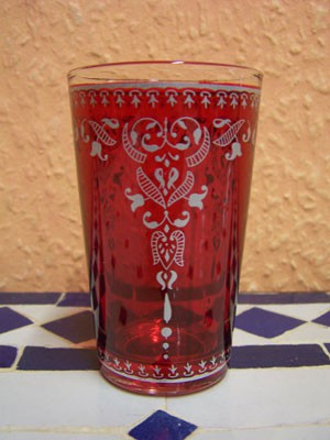 6x Tea Glass Andalous red – image 3