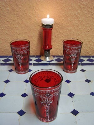 6x Tea Glass Andalous red – image 4