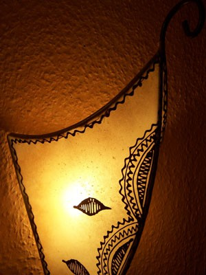 Moroccan Wall Lamp aladin nature – image 5