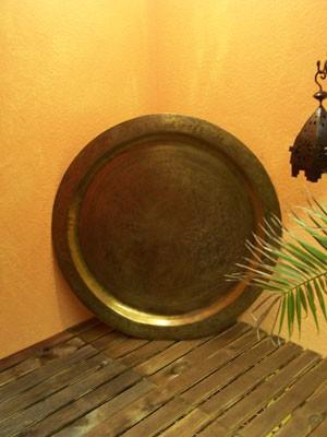 Oriental Tray Mehdia - Antique, 80cm – image 1