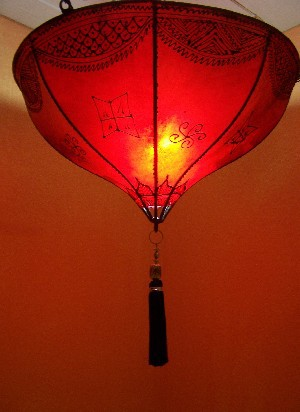 Oriental Ceiling Lamp Anadil red – image 4