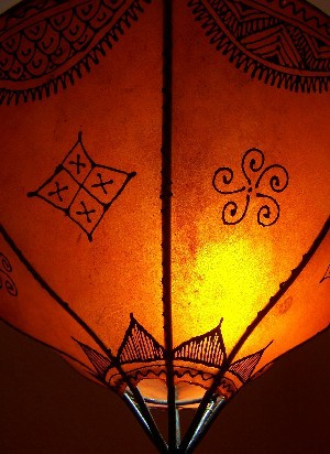 Oriental Ceiling Lamp Anadil orange – image 3