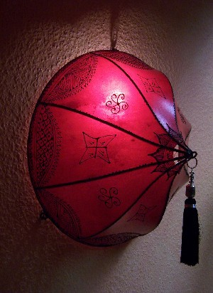 Moroccan Wall Lamp Anadil Red – image 1