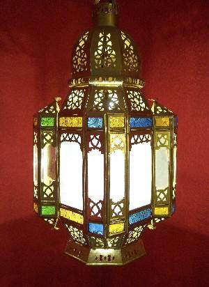 Oriental Ceiling Lamp Moulati brass – image 1