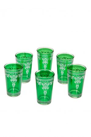 6 x Tea Glass Andalous green 6 pieces – image 1