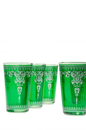 6 x Tea Glass Andalous green 6 pieces – image 2