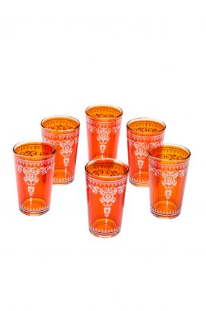 6 x Tea Glass Andalous Orange - 6 pieces – image 1