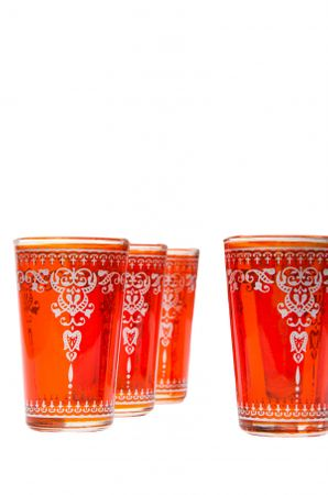 6 x Tea Glass Andalous Orange - 6 pieces – image 2