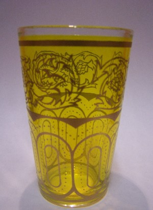 Tea Glass Laylana yellow – image 1