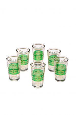 6x Orient Teeglas Marrakesch Grün - 6er SET – image 1