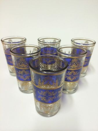 6x Tea Glass Marrakesh blue – image 9