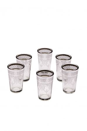 6x Tea Glass Marrakesh white – image 1