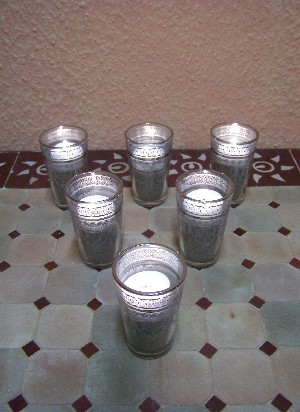 6x Tea Glass Marrakesh white – image 8