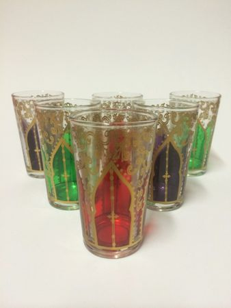 6x Tea Glass Babnour multi – image 1