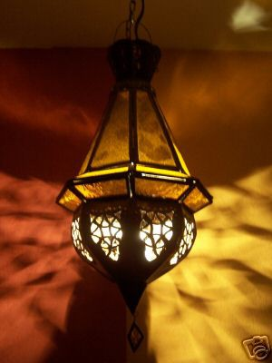 Oriental Lamp Moulay yellow