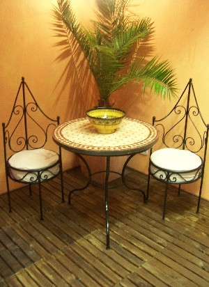 Moroccan Iron Chair Granada – image 5