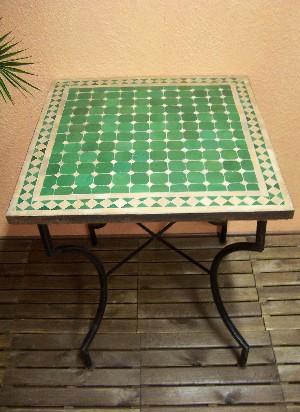 Mosaic Table Marrakesch Green/Nature, 70x70cm – image 1