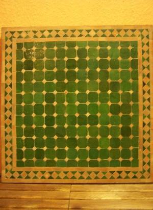 Mosaic Table Marrakesch Green/Nature, 70x70cm – image 2