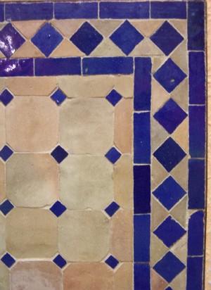 Mosaic Table Marrakesch Nature/blue, 70x70cm – image 3