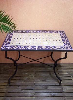 Table mosaïque Fes Claire/ Bleue, 100x60cm Meubles de jardin Meubles ...