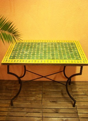 Mosaic Table Marrakesch Green/ Yellow, 100x60cm – image 1